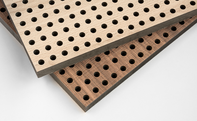 Perforated timber panels